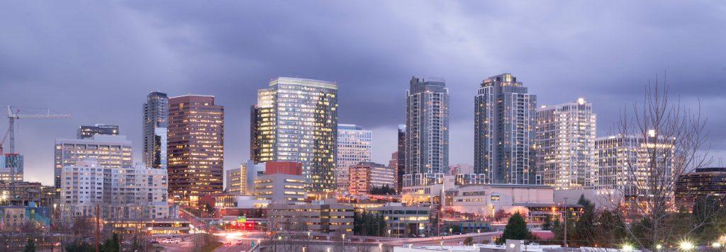 Downtown Bellevue Washington Skyline Photo